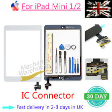 Front Glass for iPad mini1/2 Touch Screen Digitizer Replacement White IC Button
