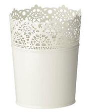 NEW IKEA Skurar Plant Pot White Decorative 15cm Tall Flower Pot FREE POST