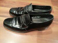 Florsheim Richfield 23258 Mens Leather Loafers Flexible Insole Shoes Black Sz 7D