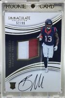 2016 Immaculate BRAXTON MILLER RPA RC 2 CLR JRSY Patch OC AUTO #52/99 SP Texans