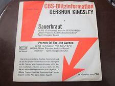 "GERSHON KINGSLEY - SAUERKRAUT - 7"" VINYL SINGLE CBS-BLITZINFORMATION"