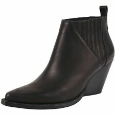 NEW In Box 8 Jeffrey Campbell Vaquero Black Leather Pointed Toe Boots $200