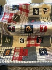 Pottery Barn Kids American League Baseball Twin Quilt