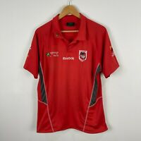 Saint George Dragons NRL Reebok Polo Shirt Large Red Short Sleeve