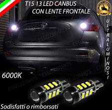 LAMPADE RETROMARCIA 13 LED T15 W16W CANBUS PER NISSAN JUKE 6000K NO ERROR