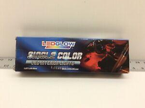 LEDGlow 4pc Blue LED Interior Footwell Underdash Neon Lighting Kit Cars/Trucks