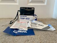Olympus Trip 100 35mm Point Shoot Film Camera Boxed w/ Manual Battery Tested