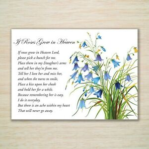 Daughter Birthday Memorial Grave Card Eco & Fully Weatherproof Stake & Freepost