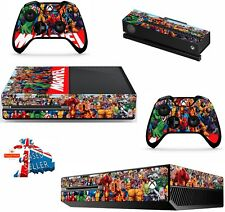 MARVEL XBOX ONE *TEXTURED VINYL ! * PROTECTIVE SKIN DECAL WRAP STICKERS