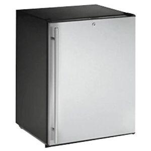 """U-Line U-ADA24RS-13B 24"""" ADA Solid Door Refrigerator, Stainless, Locking Door"""