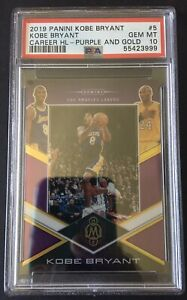PSA 10 KOBE BRYANT 2019 MOSAIC CAREER HIGHLIGHTS PURPLE &  GOLD 20/20 POP 1 🔥🔥