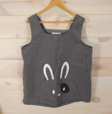 "Women's Cute Maternity Jumper Kawaii Bunny Rabbit Print Pocket Gray Xl 44"" Bust"