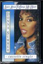 DONNA SUMMER - LOVE'S ABOUT TO CHANGE MY HEART 1989 EUROPEAN CASSINGLE S.A.W