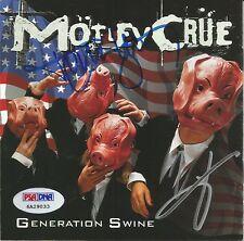 Vince Neil & Tommy Lee MOTLEY CRUE Signed Generation Swine CD Album PSA/DNA COA
