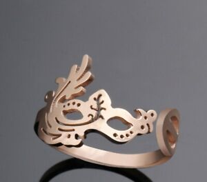 Girl / Women Face Mask Titanium Stainless Steel Open Toe Ring / Joint Ring 4-5