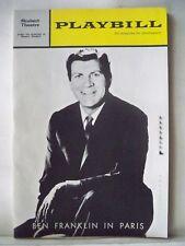 BEN FRANKLIN IN PARIS Playbill ROBERT PRESTON / ULLA SALLERT Tryout BOSTON 1964