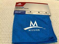 "Mission  Enduracool  Techknit  Towel Large Blue  12""x33"" NEW"