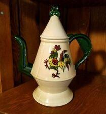 Metlox Poppytrail CALIFORNIA PROVINCIAL Vernon Green Rooster Coffee Pot & Lid