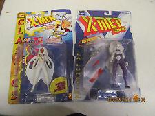 Vintage Lot of 2  Marvel Comics Toy Biz X-Men Storm, La Lunitca   NIP