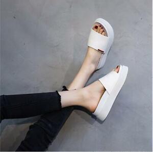 Sandals Women Chunky Wedge Heels Platform Roman Sandals Slippers Fashion Summer