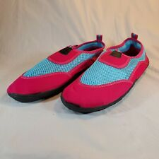 Chatties Ladies Hot Pink & Blue Aqua Water Sports Shoes Swim Beach Size 11