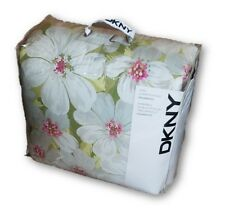 3 Pc Dkny Donna Karan Floral Comforter Set Queen Set 100% Cotton Shell 88x92