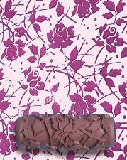 Wild Rose Flower Pattern Paint Roller fai da te Texture 15cm Muro Decorazione Stencil