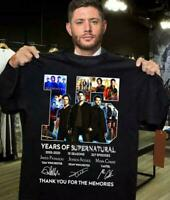 Supernatural 15th anniversary Thank you for the memories - BLACK T-shirt