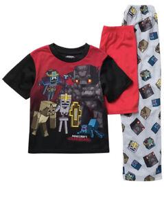 Minecraft Boys 3pc Pajama Set Size 8
