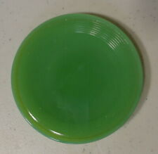 Vintage AKRO AGATE Small CONCENTRIC RING Childrens Toy Doll DISHES Green Plate