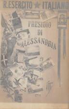A9634) PRESIDIO DI ALLESANDRIA, 3 VEDUTINE E 12 IMMAGINI DI CARTOLINE MILITARI.