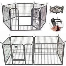 Heavy Duty 6 Panel Puppy Dog Pet Playpen Run Enclosure Whelping Pen Metal Cage