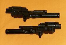 original G1 Transformers POWERMASTER OPTIMUS PRIME BLACK GUN x2 parts lot