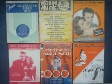 1930s sheet music and song books, various hits