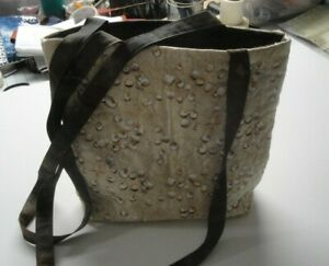 Seashells And Sand Tote Bag-Machine Quilted-Hand Made