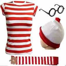 New Women's Wheres Wally Instant Kit Book Week Day Full Set Fancy Dress Costume