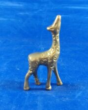 "Brass Giraffe Calf Figurine, Solid, Looking Up 2 1/2"""