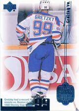 Wayne Gretzky 1999-00 UD Living Legend Blue Parallel #32 0937/1999 Oilers