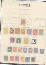 Serbia - Lot of MH/Used Stamps on Collector Page 10000/39