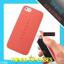 IPhone 5 Biscuit galleta móvil cartera, funda rígida, funda protectora, funda, protección bolsa cover Pink