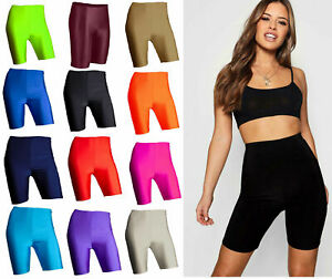 LADIES WOMENS SUPER STRETCH CYCLING DANCING SHORTS LEGGINGS ACTIVE KNEE SHORTS