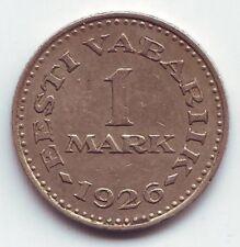 1 Mark of 1926 Estonia Eesti Estland RARE KM5