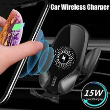 15W Qi Ladegerät Auto KFZ Handy Halterung Induktions Clamping Wireless Charger