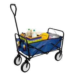 Faltbarer Handwagen Strandwagen Bollerwagen Faltwagen | max. 100Kg - Blau