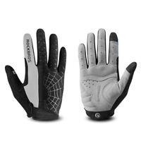ROCKBROS Cycling Long Full Finger Winter Warm Touch Screen Gray Gloves-Cobweb