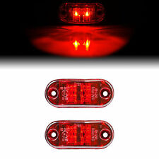 2PC NEW RED SURFACE MOUNT CLEARANCE SIDE MARKER LED LIGHTS FOR BOAT/TRAILER