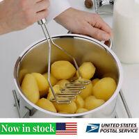 Handheld Potato Masher Mash Ricer Presser Stainless Steel Pressure Kitchen Tools