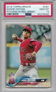 SHOHEI OHTANI RC Rookie PSA 10 Topps 2018 Update Red Jersey JAPAN ANGELS GEM