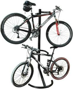 Bicycle Gravity Stand 2 Bike Holder Indoor Rack Mount Free Standing Storage 2425