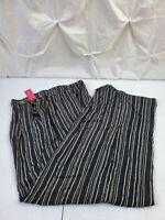 Xhilaration Womens Black White Striped Wide Leg Palazzo Pants Medium